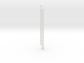 40ft Cage Ladder 1/48 in White Natural Versatile Plastic