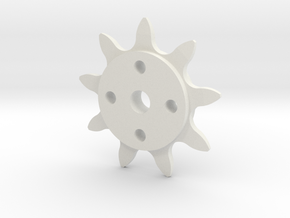 Bicycle Chain Drive Sprocket in White Natural Versatile Plastic