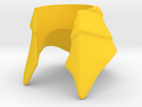 King Hssss Helmet for Snake form in Yellow Processed Versatile Plastic