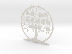 3D Family Tree in White Natural Versatile Plastic