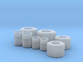 1/64 scale flotation tractor tires in Smooth Fine Detail Plastic