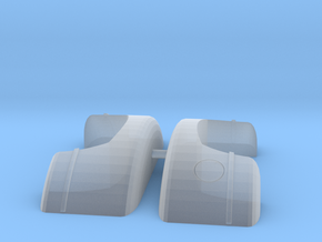 1/64 scale dually fenders in Smoothest Fine Detail Plastic