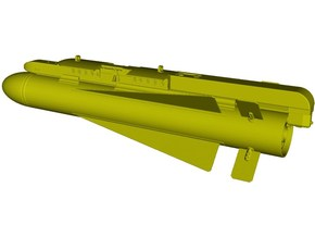 1/18 scale AGM-65 Maverick missile on LAU-117 x 1 in Smooth Fine Detail Plastic