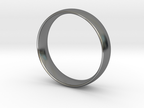 Wedding Band in Polished Silver