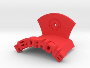 Headphone Wall Mount Model C in Red Processed Versatile Plastic