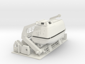 lifeboat with davit, can be made functional RH in White Natural Versatile Plastic: 1:75