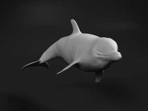 Bottlenose Dolphin 1:64 Swimming 1 in Smooth Fine Detail Plastic
