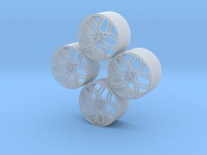 20'' Forgiato Quadrato wheels in 1/24 scale in Smooth Fine Detail Plastic