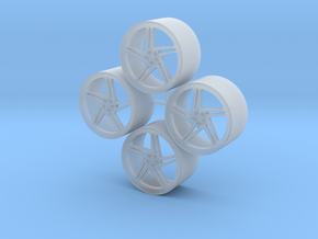 20'' Vossen LC-102T  wheels in 1/24 scale in Smooth Fine Detail Plastic