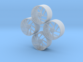 20'' Vossen NV2 wheels in 1/24 scale in Smooth Fine Detail Plastic