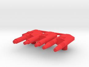 1987 Autobot Guns in Red Processed Versatile Plastic