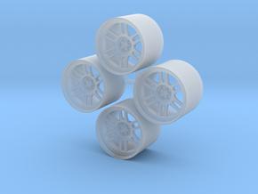 15'' Enkei RPF1 wheels in 1/24 scale in Smooth Fine Detail Plastic