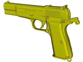 1/12 scale FN Browning Hi Power Mk I pistol B x 1 in Smooth Fine Detail Plastic