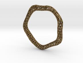 Irregular Bracelet (Size L) in Natural Bronze