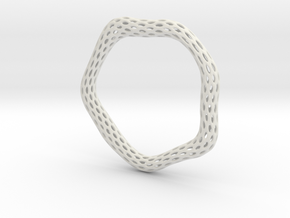 Irregular Bracelet (Size XL) in White Natural Versatile Plastic