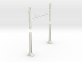 PRR MODULAR K BRACE CATENARY 2T BASE TANGENT HANG in White Natural Versatile Plastic
