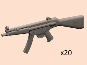 1/24 scale MP5A4 in Smooth Fine Detail Plastic