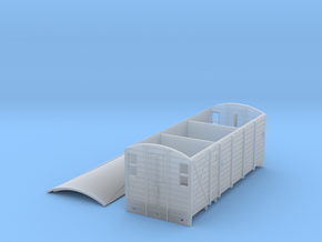 GWR PT WAY TOAD BRAKE VAN (inc ROOF) in Smooth Fine Detail Plastic
