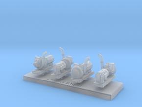 Grappe de 4 turbo générateur type Nord (2 types) in Smooth Fine Detail Plastic