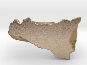 Sicily ring in Polished Gold Steel