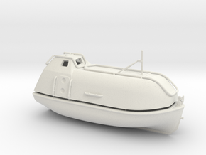 Lifeboat Typ A in White Natural Versatile Plastic: 1:75