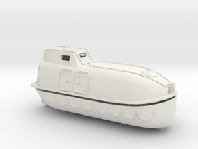 Lifeboat Typ C in White Natural Versatile Plastic: 1:75