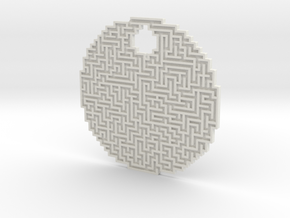 32-40-2 circle maze in White Natural Versatile Plastic