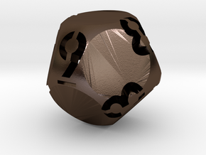 Hollow d9 in Polished Bronze Steel