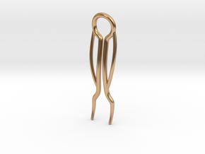 Model II Triple Curve Hairpin in Polished Bronze