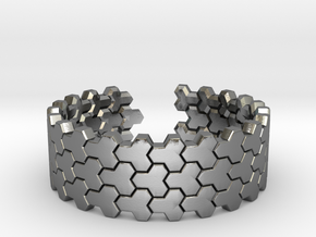 Honeycomb [Tesselation ring] in Polished Silver