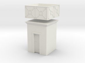 Small english style H0 water tank in White Natural Versatile Plastic