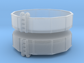 15ft Swimming Pool (x2) 1/220 in Smooth Fine Detail Plastic
