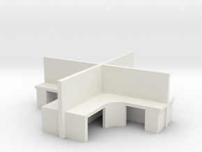 2x2 Office Cubicle 1/100 in White Natural Versatile Plastic