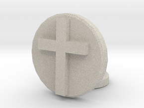 Latin Cross in Natural Sandstone