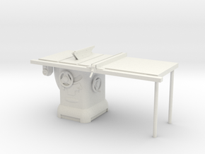 Table Saw in White Natural Versatile Plastic