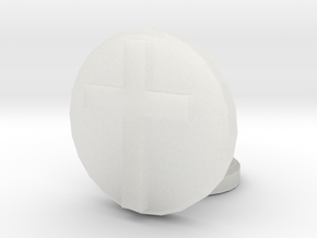 Latin Cross in Smooth Fine Detail Plastic