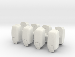 Hand Sanitizer Dispenser (x8) 1/35 in White Natural Versatile Plastic