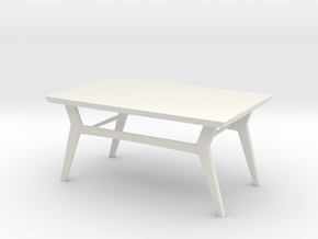1:24 Modern Coffee Table in White Natural Versatile Plastic