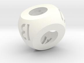 ABCD d4 in White Processed Versatile Plastic