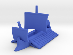 Athenian Trireme Sailing Game Pieces in Blue Processed Versatile Plastic: Extra Small