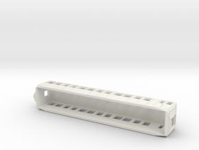 Carcasa S2000 Metro Madrid escala N Coche Remolque in White Natural Versatile Plastic