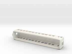 Carcasa S2000 Metro Madrid scala H0 Coche Remolque in White Natural Versatile Plastic