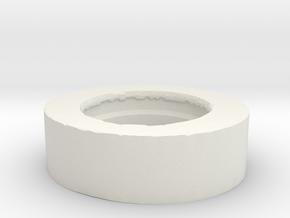 Neck Extension Long VINTAGE  in White Natural Versatile Plastic