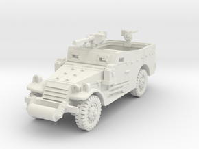 M3A1 Scoutcar late (with MG) 1/72 in White Natural Versatile Plastic