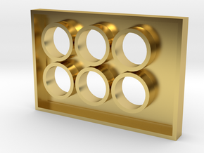 Culture Touch Plate 6 in Polished Brass