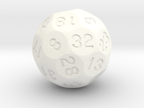 d32 Sphere Dice (Alt Shape) in White Processed Versatile Plastic
