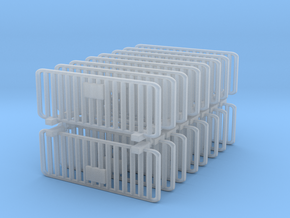 Crowd Control Barrier (x16) 1/100 in Smooth Fine Detail Plastic