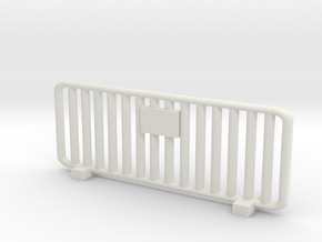 Crowd Control Barrier 1/43 in White Natural Versatile Plastic