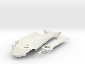 Lynxmotion VTail 500 Canopy in White Natural Versatile Plastic