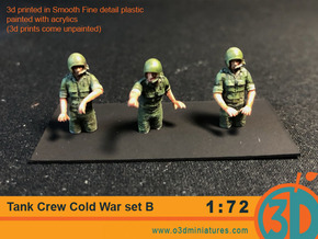 Tank Crew Cold War Set B 1/72 scale in Smooth Fine Detail Plastic